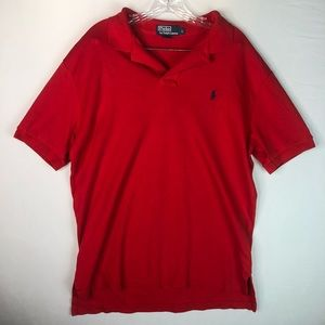 Polo Ralph Lauren Men's Red Polo Shirt M